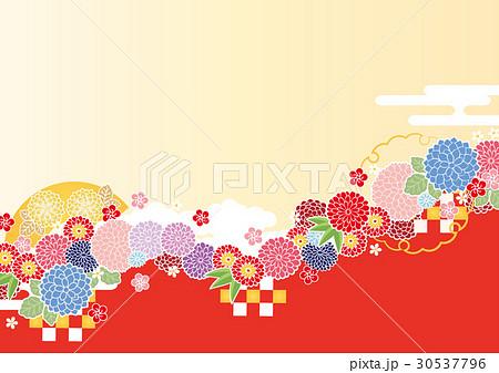 背景素材-和柄イメージ5(鳥なし) 30537796