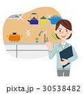 女性 作業員 リフォームのイラスト 30538482