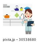 女性 作業員 リフォームのイラスト 30538680