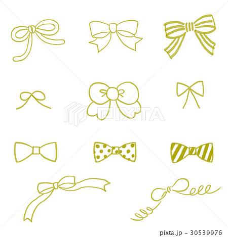 手書きリボン黄色のイラスト素材 30539976 Pixta