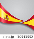 Spanish wavy flag. Vector illustration. 30543552