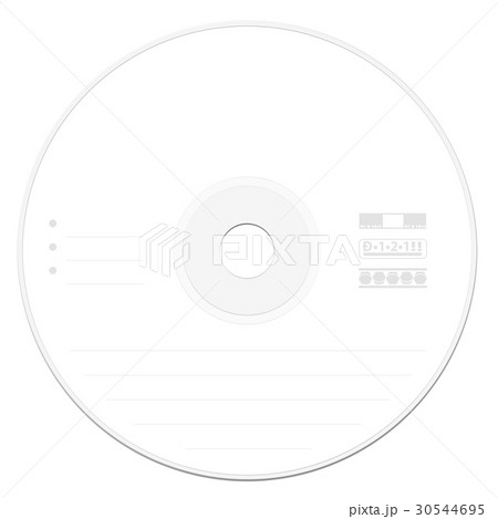 cd label template whiteのイラスト素材 30544695 pixta