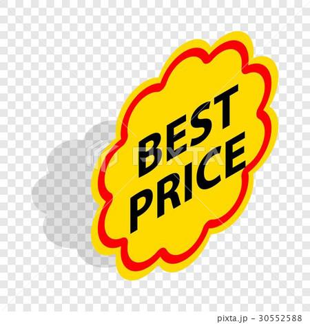 Label best price isometric iconのイラスト素材 [30552588] - PIXTA