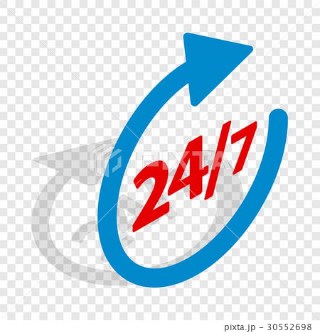 Round clock support isometric iconのイラスト素材 [30552698] - PIXTA