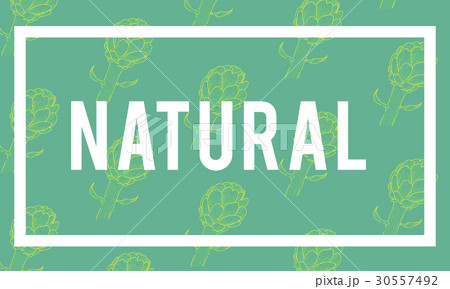 natural vitality reviving graphic design wordのイラスト素材