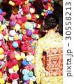 3月京都 八坂庚申堂 くくり猿 着物 30558213