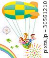 気球 家族旅行 家族のイラスト 30561210