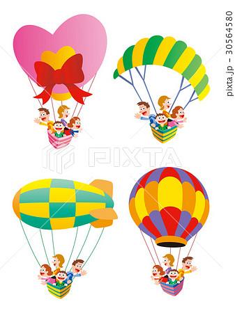 気球に乗って家族旅行、色々な気球 30564580