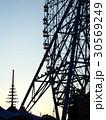 名古屋港:夕暮れの観覧車 30569249