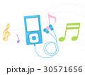mp3プレイヤー 音楽プレイヤー ミュージックプレイヤーのイラスト 30571656