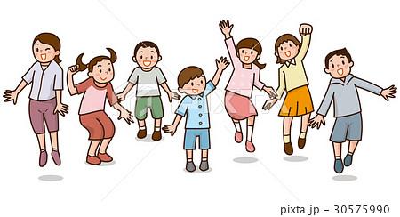 ジャンプする子供たち 30575990