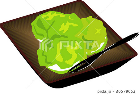 ずんだ餅のイラスト素材 [30579052] , PIXTA