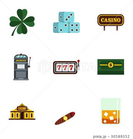 Gambling icons set, flat styleのイラスト素材 [30589352] - PIXTA
