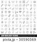 100 100 生物学のイラスト 30590369