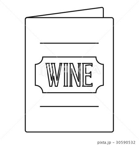 wine menu icon outline styleのイラスト素材 30590532 pixta