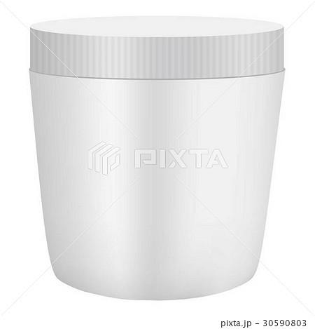 White plastic cosmetic container mockupのイラスト素材 [30590803] - PIXTA