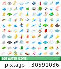 100 100 ウォーターのイラスト 30591036