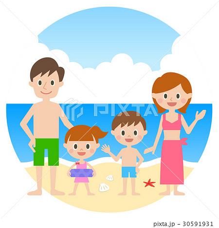 家族 海水浴 30591931