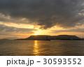 朝日 日の出 瀬戸内海の写真 30593552