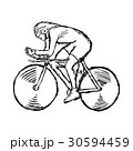 Track cycling - vector illustration sketch  30594459
