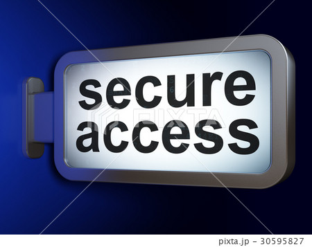 Privacy concept: Secure Access on billboard 30595827