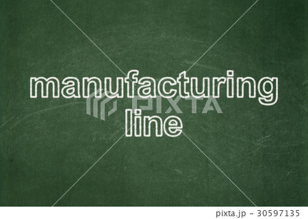 Industry concept: Manufacturing Line on chalkboard 30597135