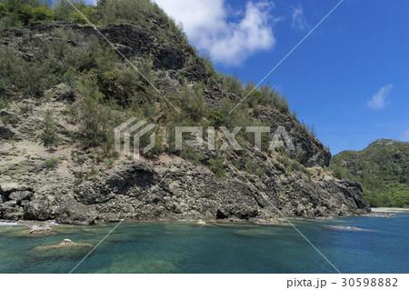 小笠原の枕状溶岩 父島ワシントンビーチ 30598882