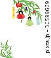 七夕 笹の葉 笹飾りのイラスト 30599669