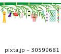 七夕 笹の葉 笹飾りのイラスト 30599681