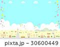 街 風船 バルーンのイラスト 30600449