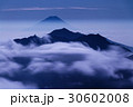 富士山 月 鳳凰三山の写真 30602008