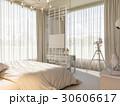 寝室 インテリア デザインのイラスト 30606617