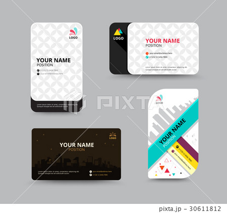 business card template business card designのイラスト素材 30611812