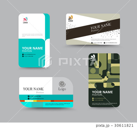 business card template business card designのイラスト素材 30611821