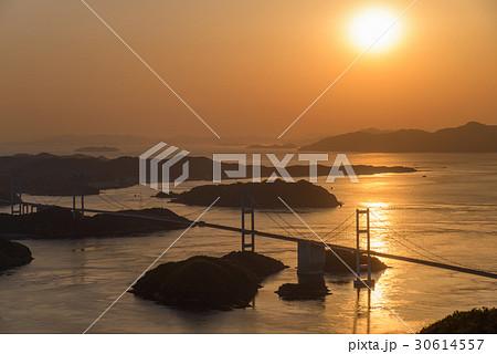 【瀬戸内しまなみ海道】来島海峡大橋夕景 30614557