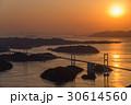 来島海峡大橋 夕景 しまなみ海道の写真 30614560