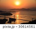 来島海峡大橋 夕景 しまなみ海道の写真 30614561
