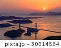 来島海峡大橋 夕景 しまなみ海道の写真 30614564