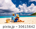 Couple on a beach at Seychelles 30615642