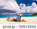 Couple on a beach at Seychelles 30615644