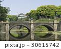 東京観光 春の皇居 二重橋 新緑  30615742