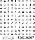 モノトーン アイコン(シリーズ)デフォルメ 30619897