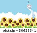向日葵 風鈴 夏のイラスト 30626641