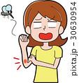 女性 白バック 蚊のイラスト 30630954