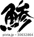 鯵 魚 筆文字のイラスト 30632864