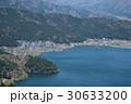 賤ケ岳山頂から俯瞰する余呉湖と北國街道方面 30633200