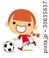 サッカーを楽しむ女の子 30635637