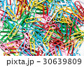 Colorful Red, green, yellow, pink, blue paper clip 30639809