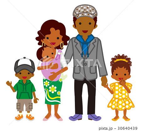 若い家族 黒人のイラスト素材 30640439 Pixta