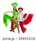 Gypsy flamenco dancer couple dancing against 30645418